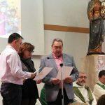 Celebració dels 25 anys de la promesa com a Salesians Cooperadors de la Tere, el Cisco i el Lluís, del centre de Terrassa.